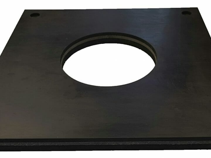 Water Jet Cut Rubber Profile – 25mm Abrasion Resistance Belting